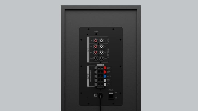 Control buttons for 51. Speaker system