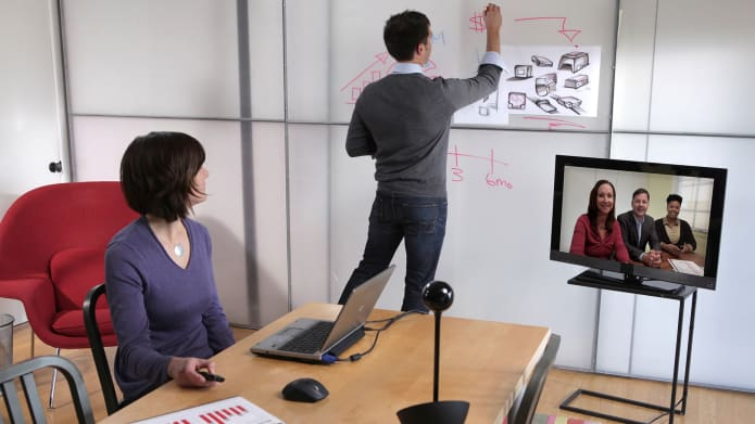 Whiteboarding with video conferencing camera