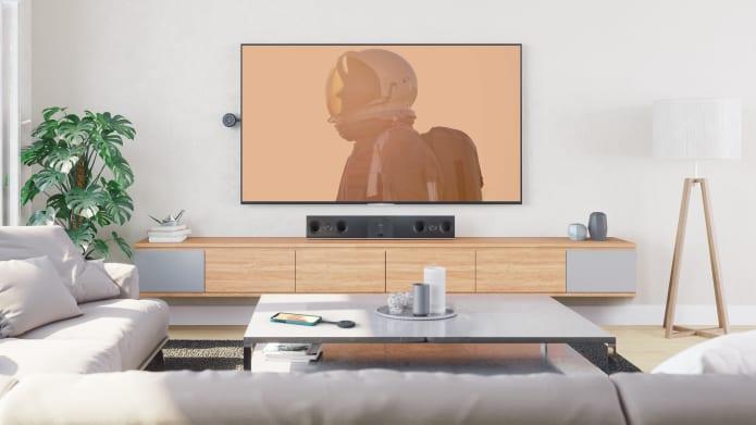 Livingroom with media using OnePres