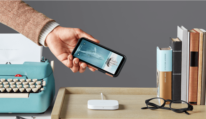 Lifestyle displaying how simple and intuitive wireless charge is for the user