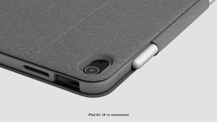 Защищенные углы чехла FolioTouch для iPadAir
