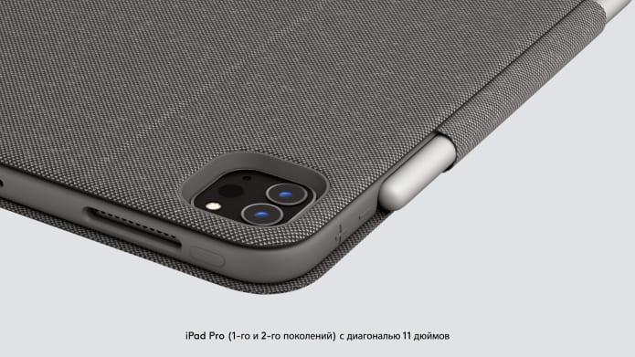 Защищенные углы чехла FolioTouch для iPadPro