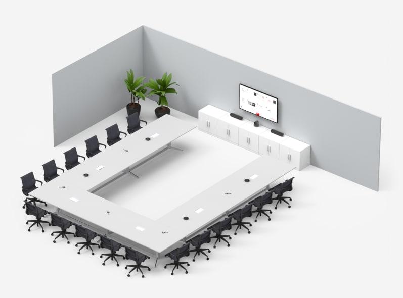Mittelgroßer Raum mit Barco