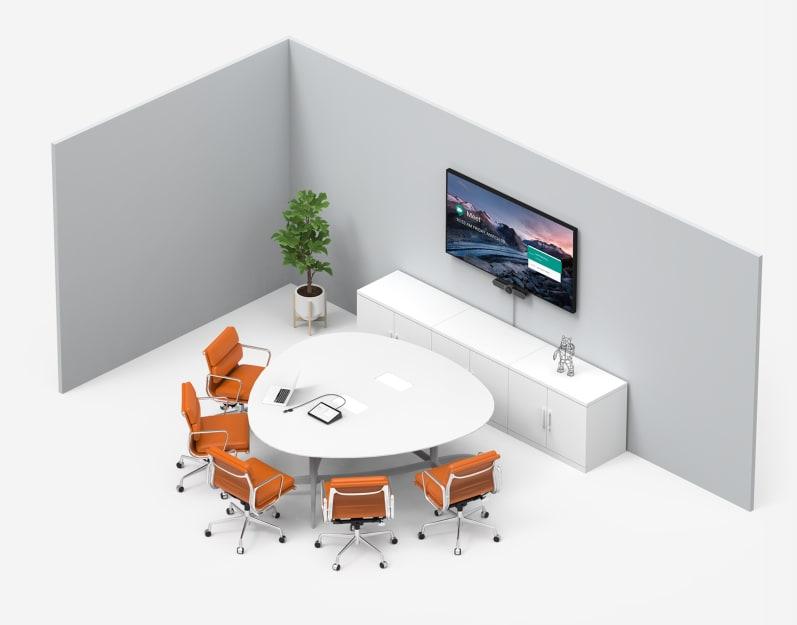 配備 Google Meet 的小房間