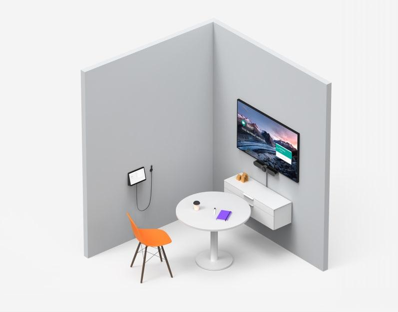 Lay-out van focusruimte met Google