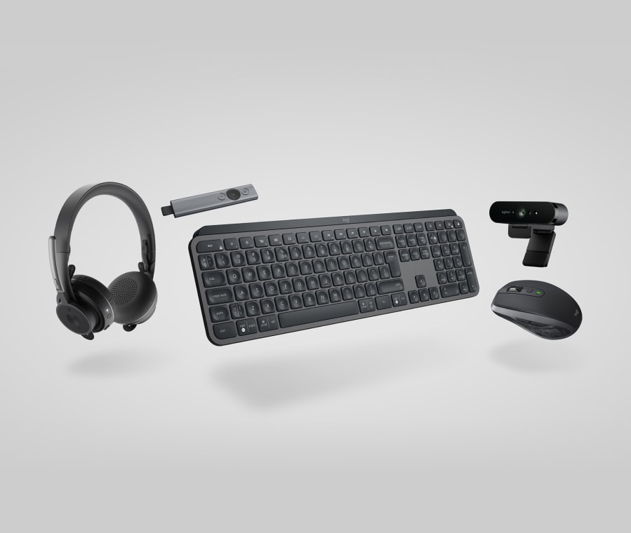 Executive-kollektion – tangentbord, mus, headset, webbkamerakombination